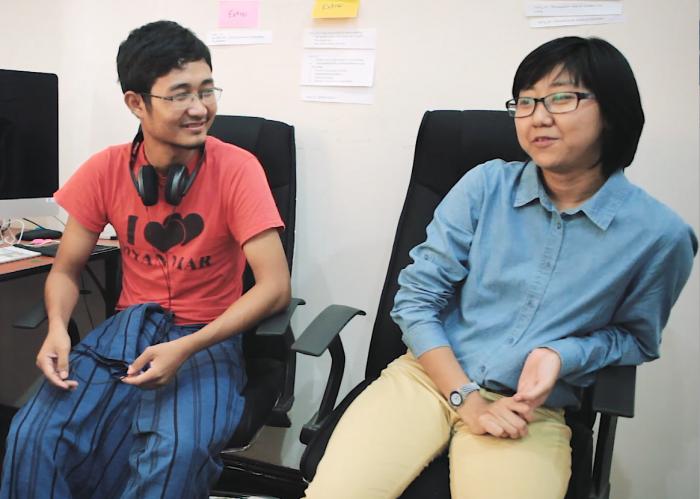 Yangon Film Schoolin opiskelijoita