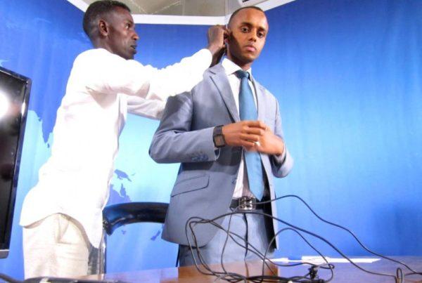 Kuvausvalmisteluja Somaliassa
