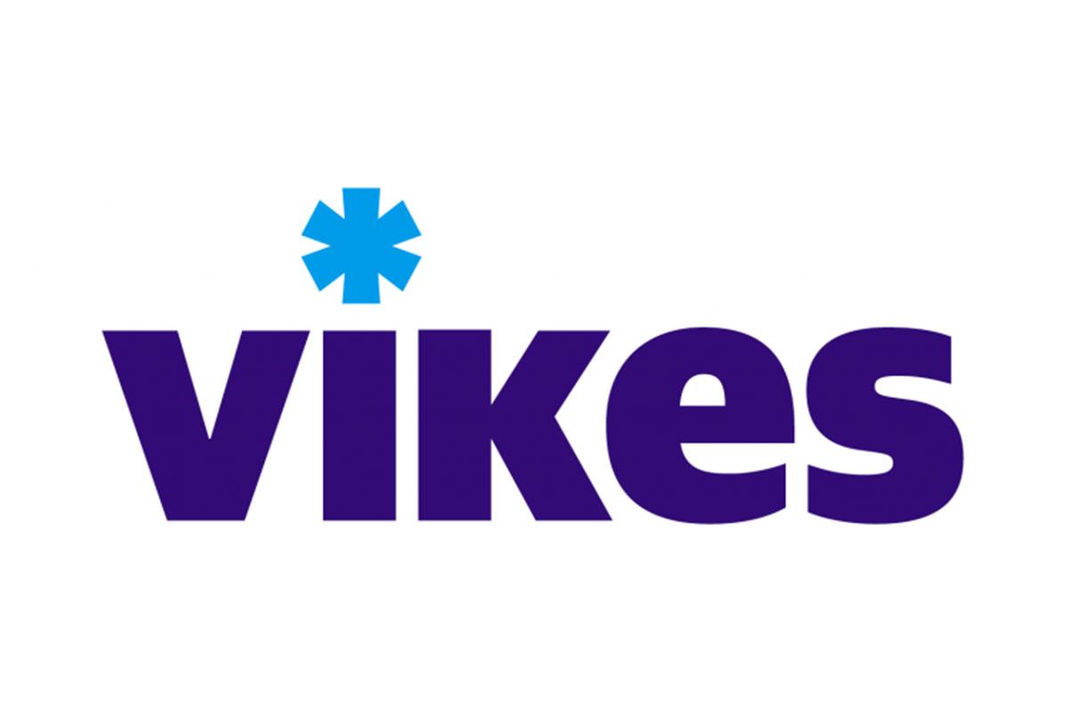 Vikesin logo värillisenä