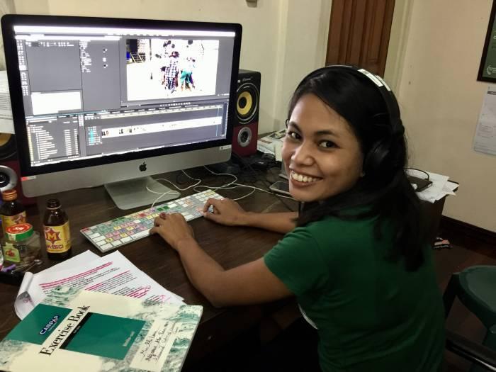 Elokuvan leikkaamista Myanmarissa