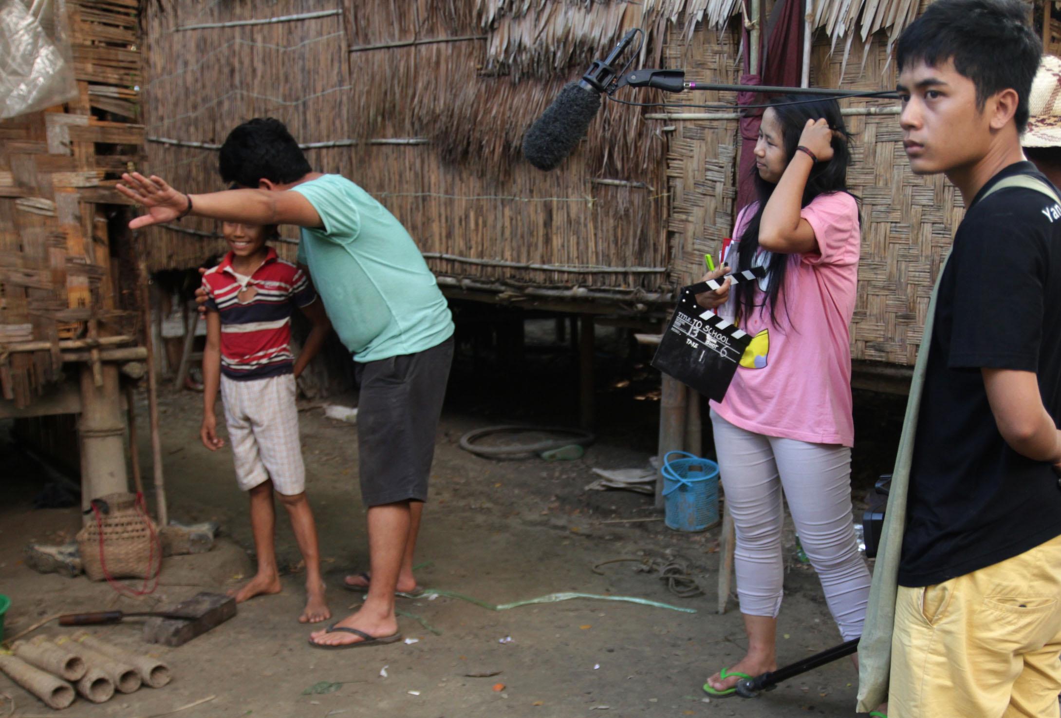 Elokuvan tekoa Myanmarissa