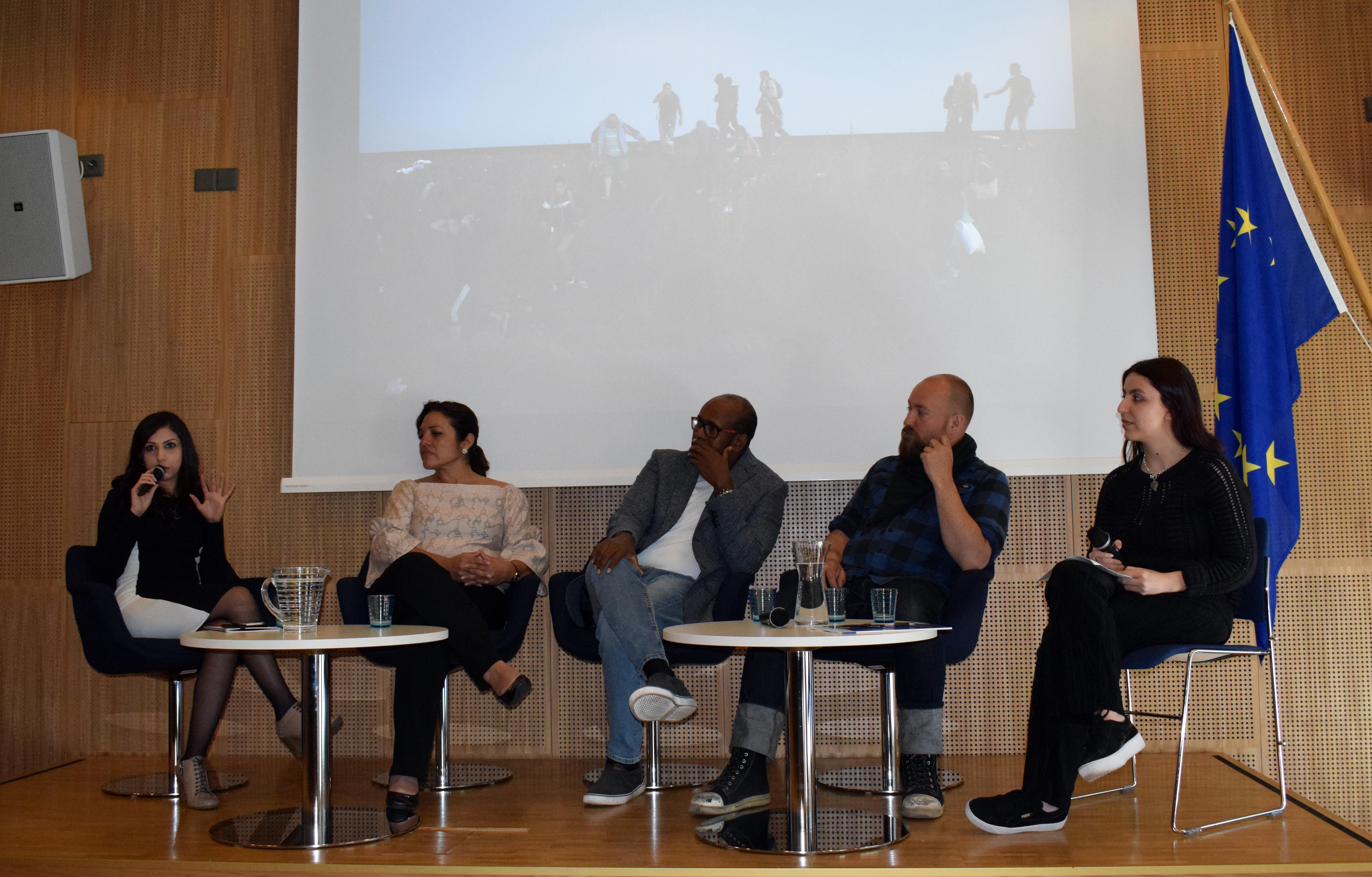 Paneelikeskustelu Eurooppasalissa Helsingissä