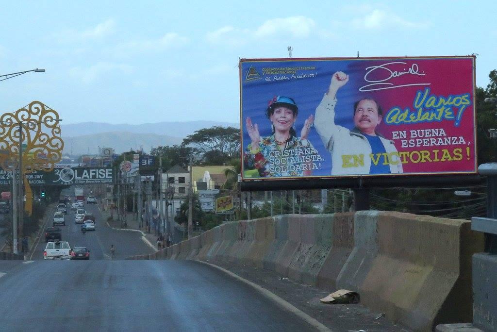 Kyltti Nicaaguan presidenttiparista