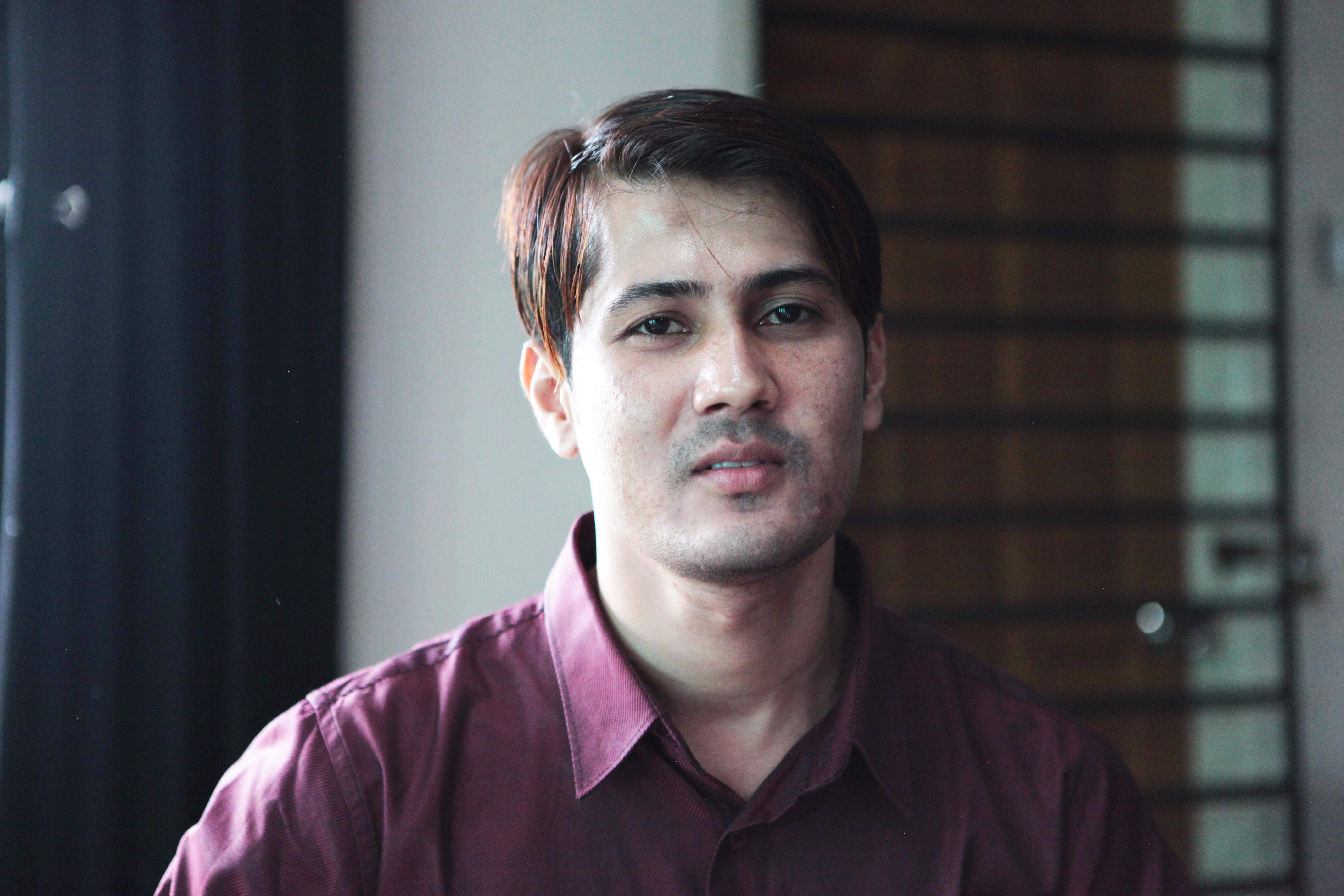 Yangonin elokuvakoulun projektikoordinaattori Win Naing