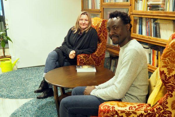 Kristiina Markkanen ja Thierry Mbabane