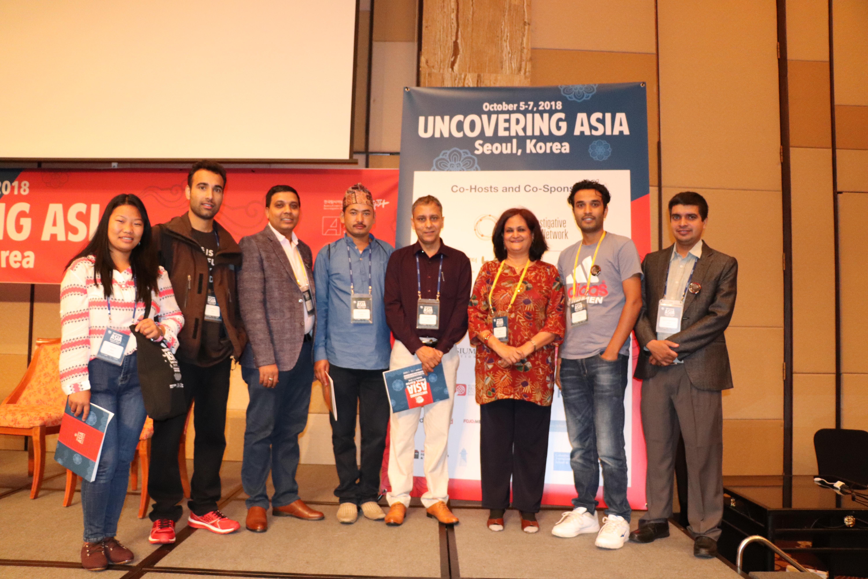 Nepalilaisen toimittajajärjestön edustajat Koreassa