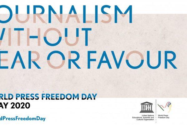 Lehdistönvapauden päivän logobanneri