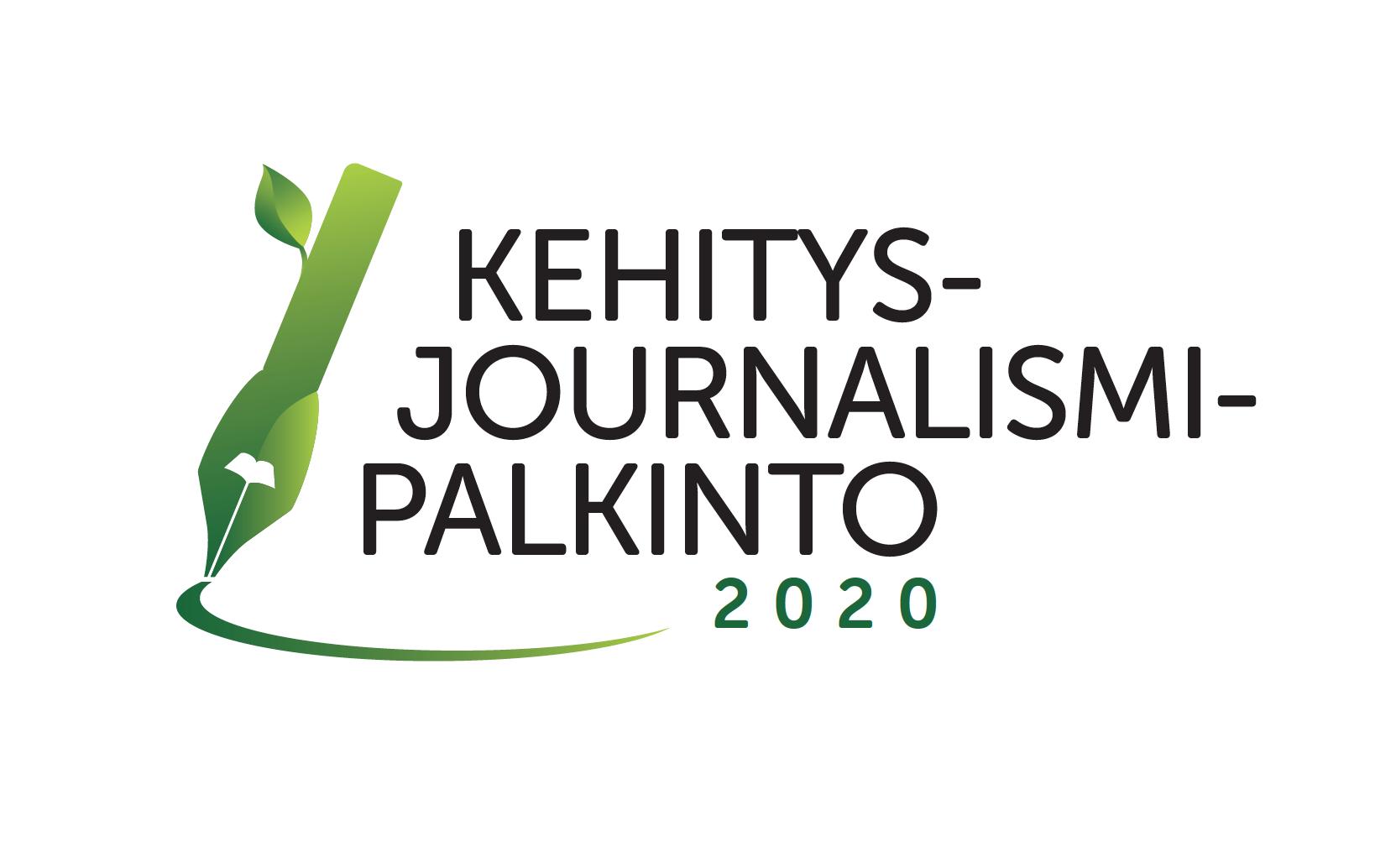 Kehitysjournalismin palkinto -logo