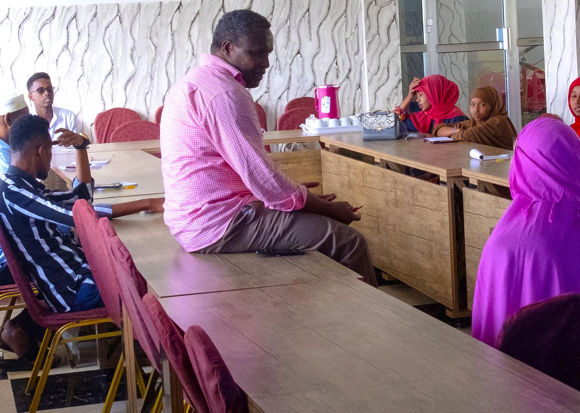Toimittajien koulutusta Somaliassa