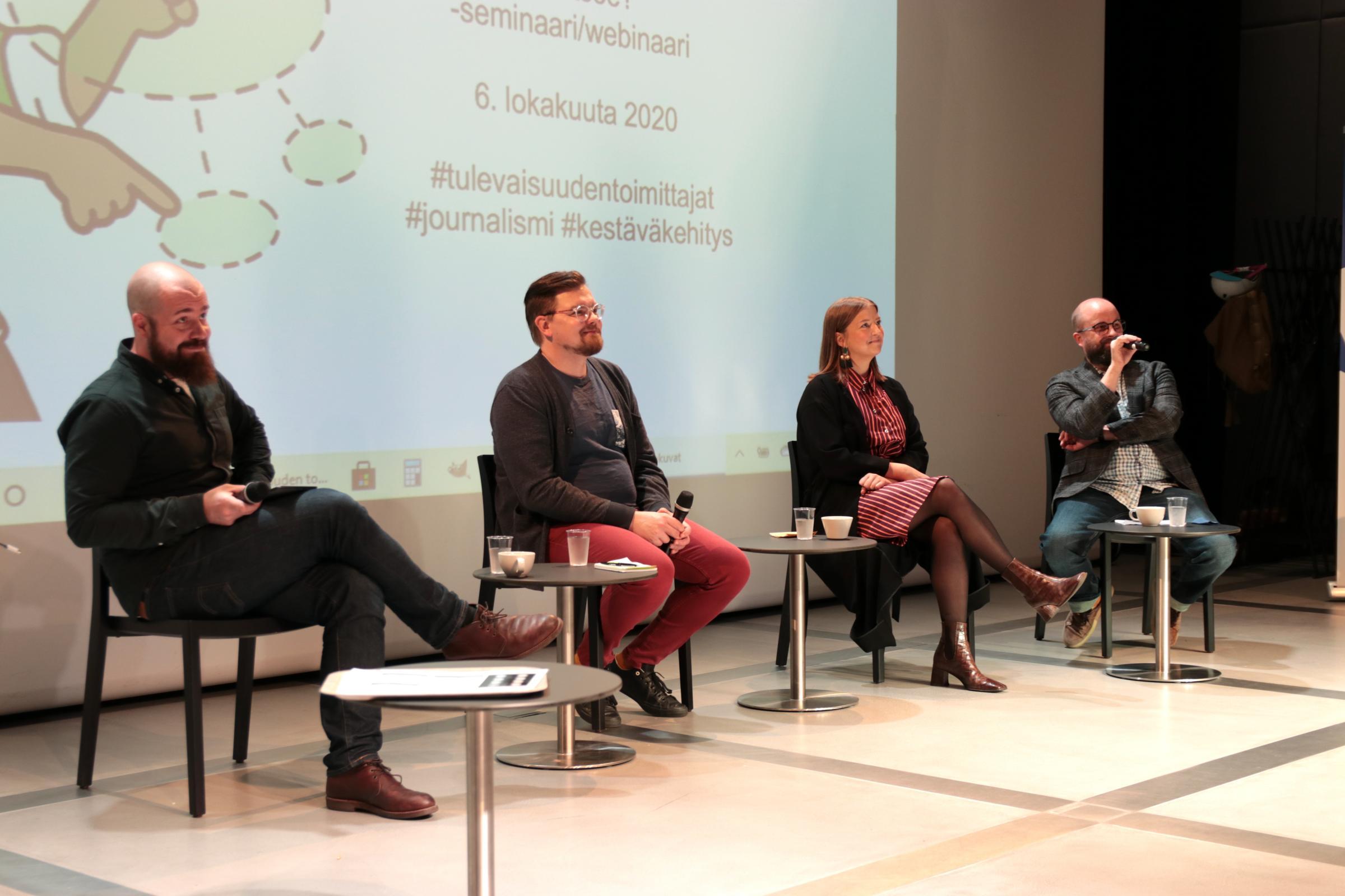 Mikko Pelttari, Lasse Leipola, Alma Onali ja Esa Salminen