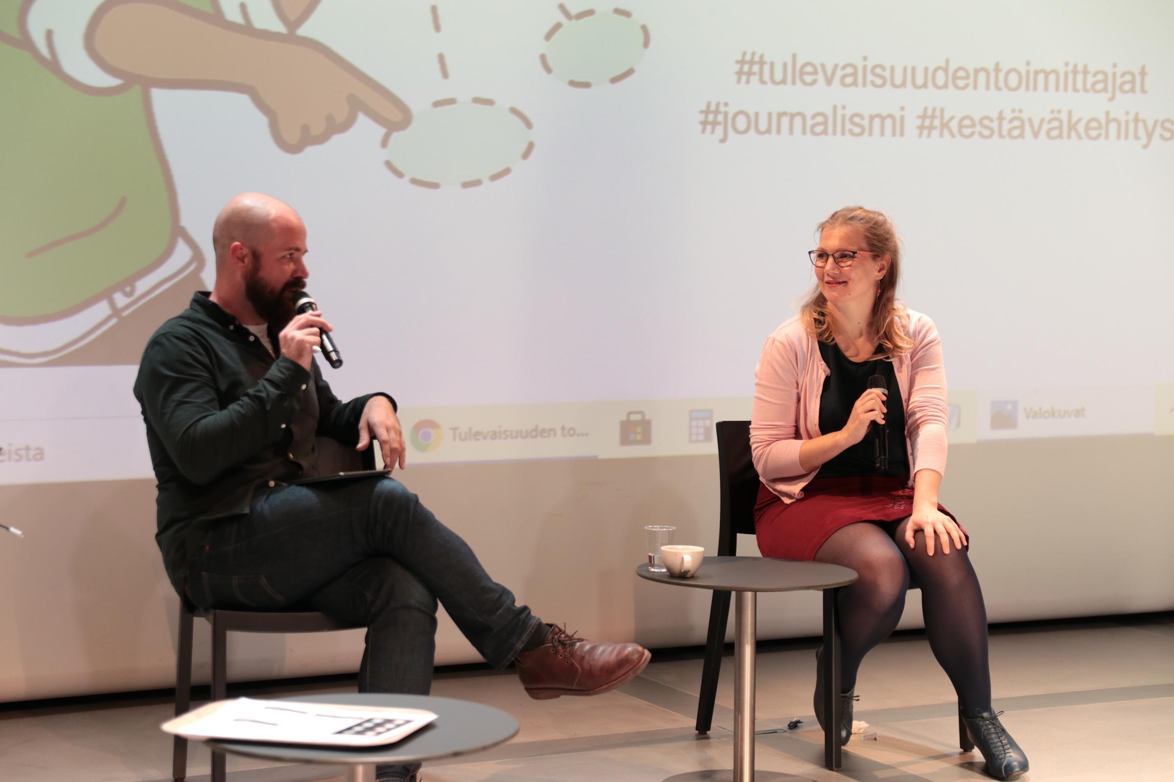 Mikko Pelttari ja Aura Neuvonen