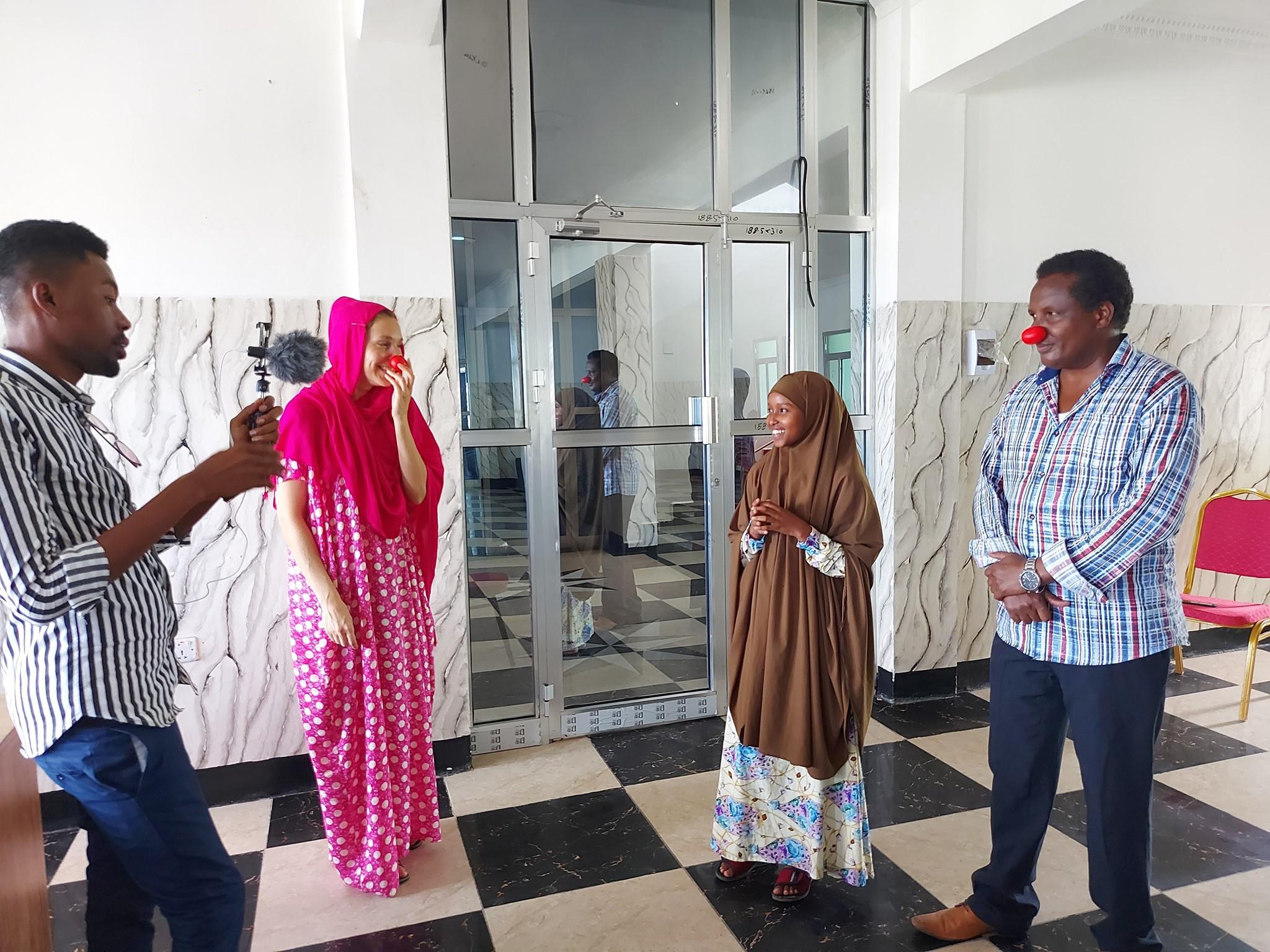 Ahmed Munye, Mira Myllyniemi, Ramla Shariif ja Abdi Musse Mogadishussa