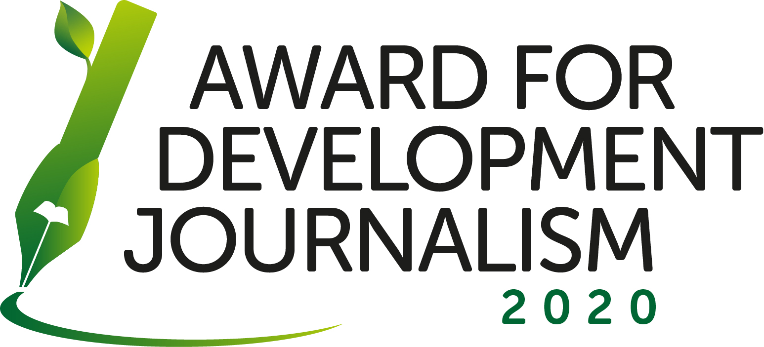 Award for development journalism logo