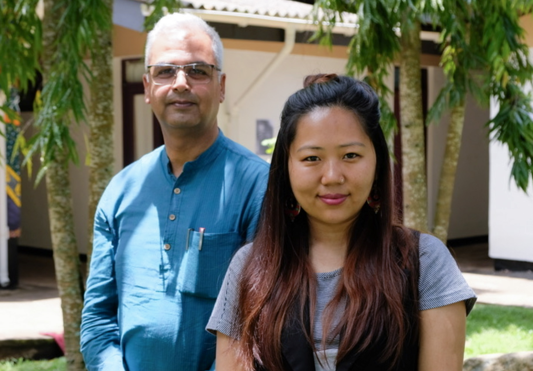Kiran Nepal and Bhrikuti Rai from CIJ Nepal