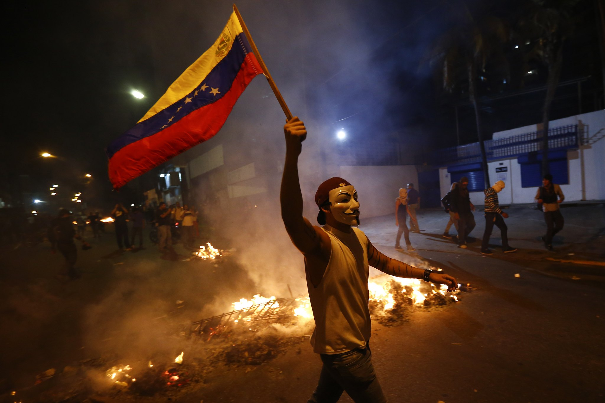 Mielenosoittaja Venezuelassa