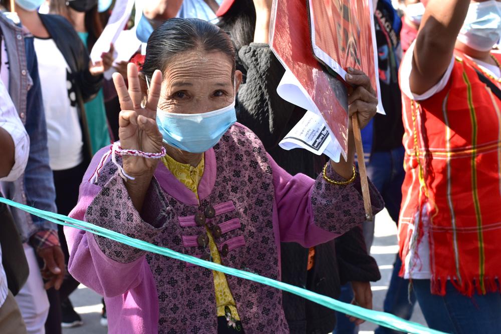 Mielenosoitus Myanmarissa