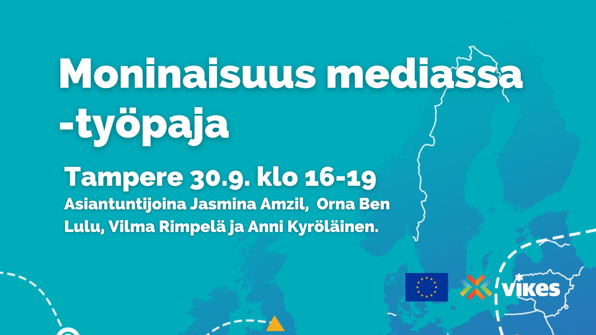 Mainos: Moninaisuus mediassa -työpaja Tampereella 30.9.