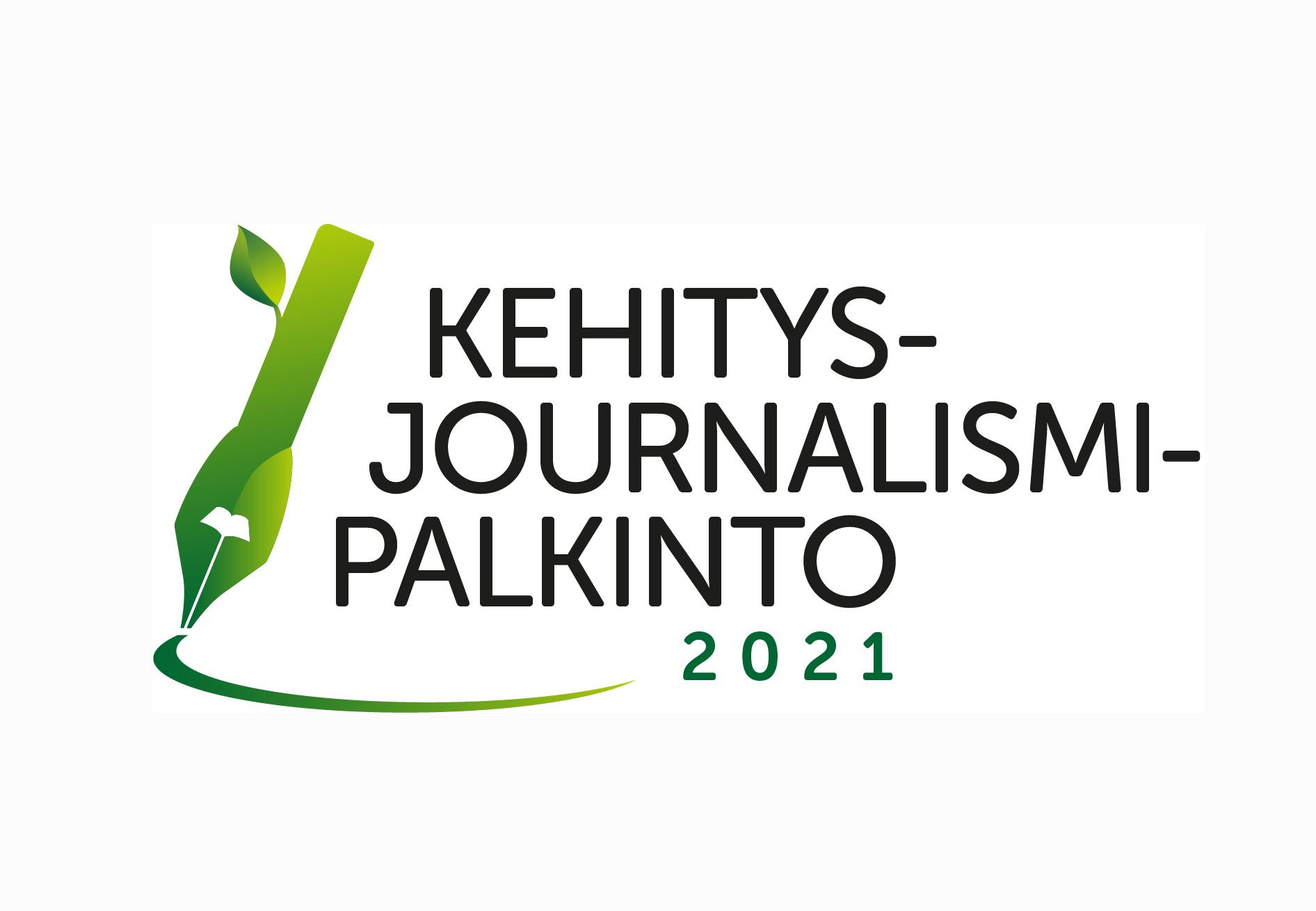Logo: Kehitysjournalismipalkinto 2021