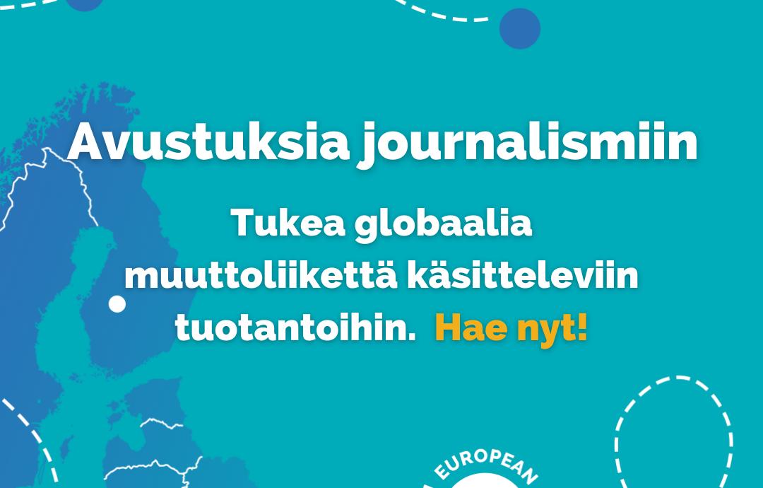 Mainos: Avustuksia journalismiin